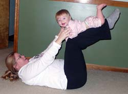 Leglift with baby