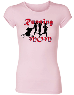 Running Mom Bamboo Crew Neck Tee