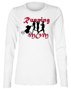Running Mom Misses Relaxed Fit Bella Long Sleve