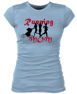 Running Mom Junior Bella Rib Tee
