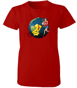 Running World Misses Relaxed Anvil Organic Tee