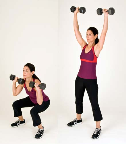 Standing Dumbbell Military Press: Shoulder Workouts