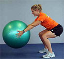 squat with ball