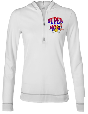 Super Mom Half Zipp Hoodie