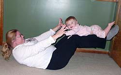 Crunches with Baby